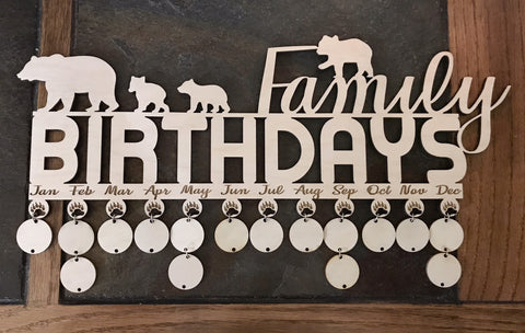 Birthday Reminder Wall Hanger
