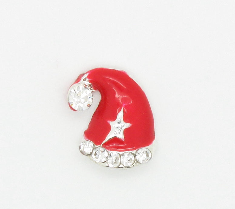 Santa Hat Floating Charm - Stoney Creek Charms