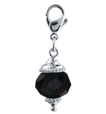 Black dangle for floating lockets - Stoney Creek Charms