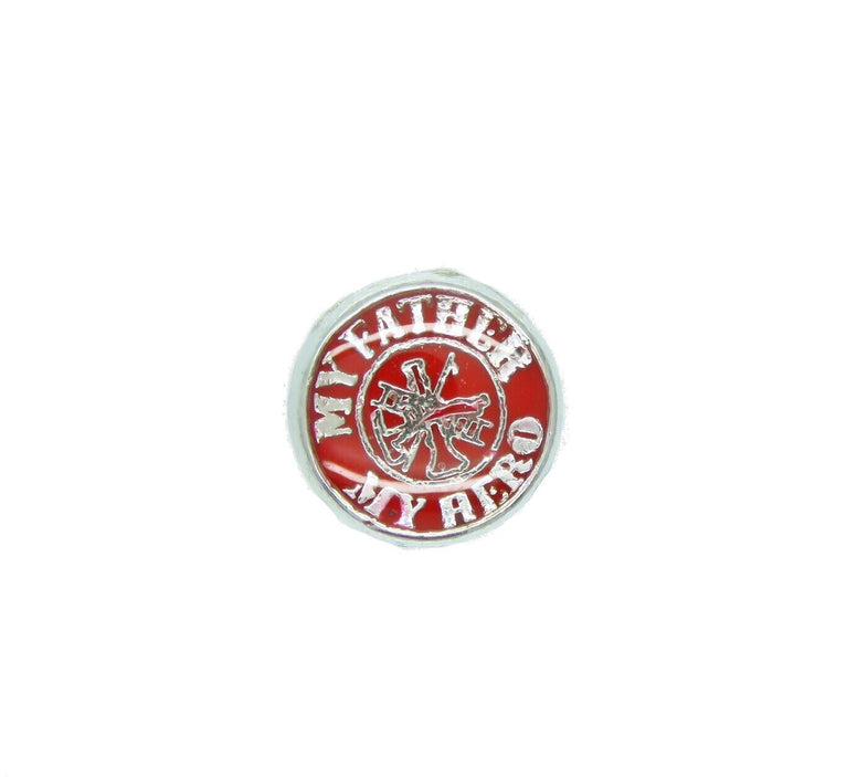 Fireman Hero Fire Firefighter Floating Charm - Stoney Creek Charms