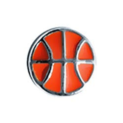 Basketball floating locket charm - Stoney Creek Charms