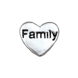 Silver family floating locket charm - Stoney Creek Charms