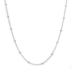"20"" Silver ball station chain"