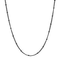 "20"" Black ball station chain - Stoney Creek Charms"