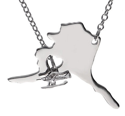 Alaska Necklace with Float Plane - Stoney Creek Charms