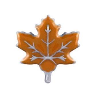 Orange Maple Leaf Floating Charm - Stoney Creek Charms