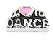 Love To Dance Floating Charm