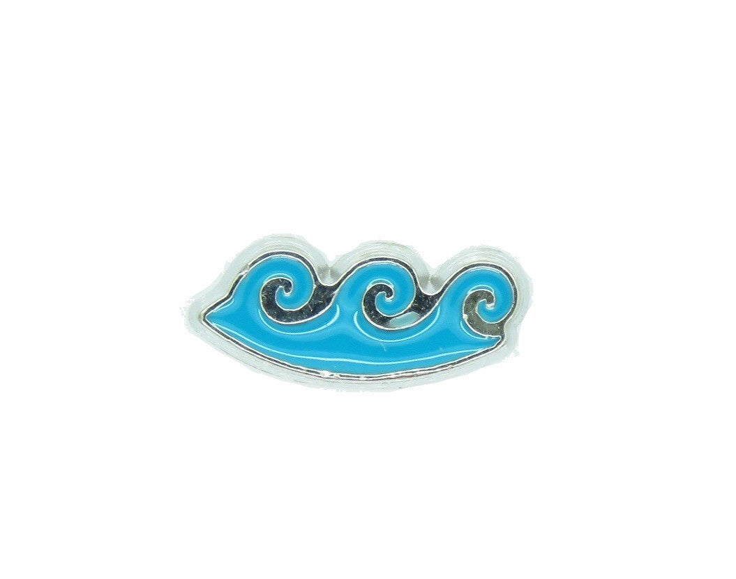 Ocean Wave Floating Charm - Stoney Creek Charms