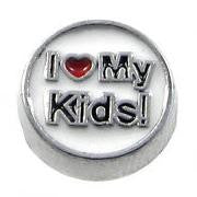I love my kids floating locket charm - Stoney Creek Charms