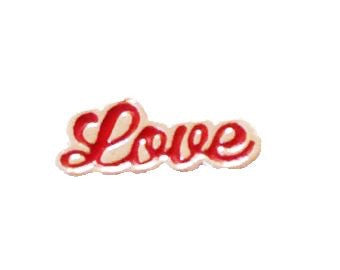 Red Cursive Love Floating Charm - Stoney Creek Charms