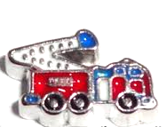 Fire Truck Fire Firefighter Floating Charm - Stoney Creek Charms