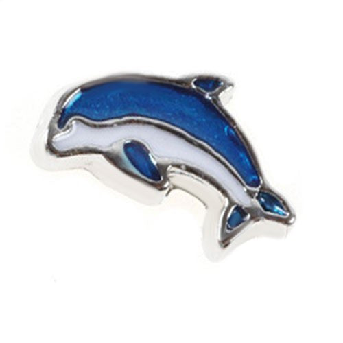 Dolphin floating locket charm - Stoney Creek Charms