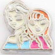 Frozen Elsa and Anna Floating Charm - Stoney Creek Charms