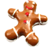 Gingerbread Man Floating Charm - Stoney Creek Charms