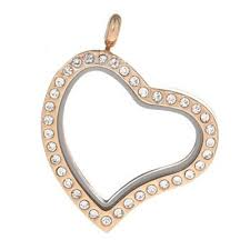 Rose gold heart floating locket - Stoney Creek Charms