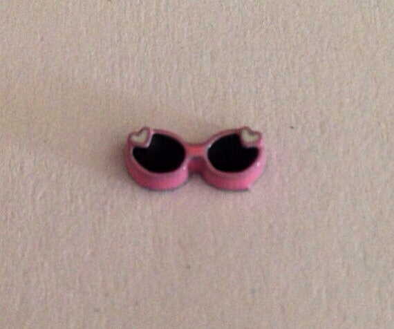 Pink sunglasses floating locket charm - Stoney Creek Charms