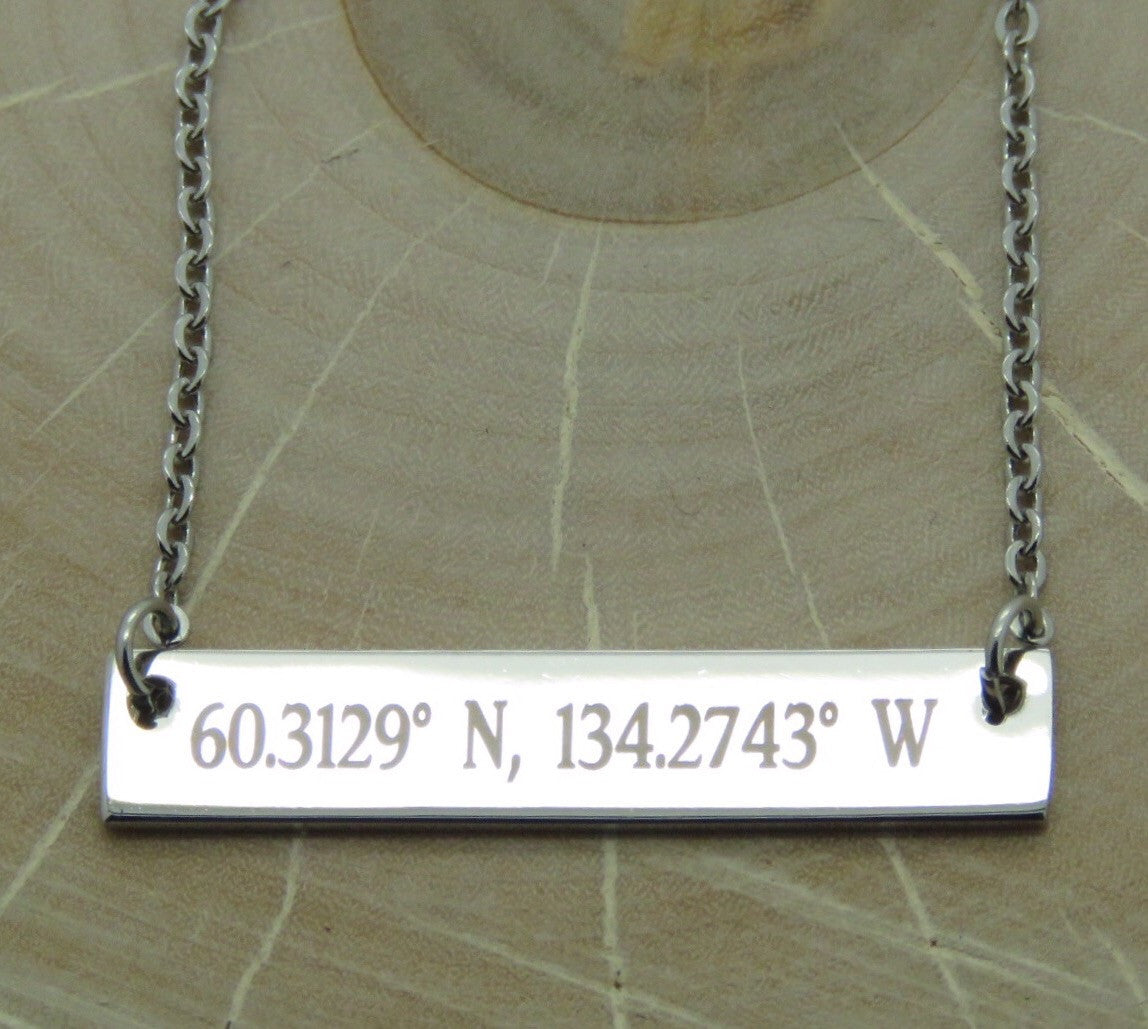 Custom Coordinates Necklace