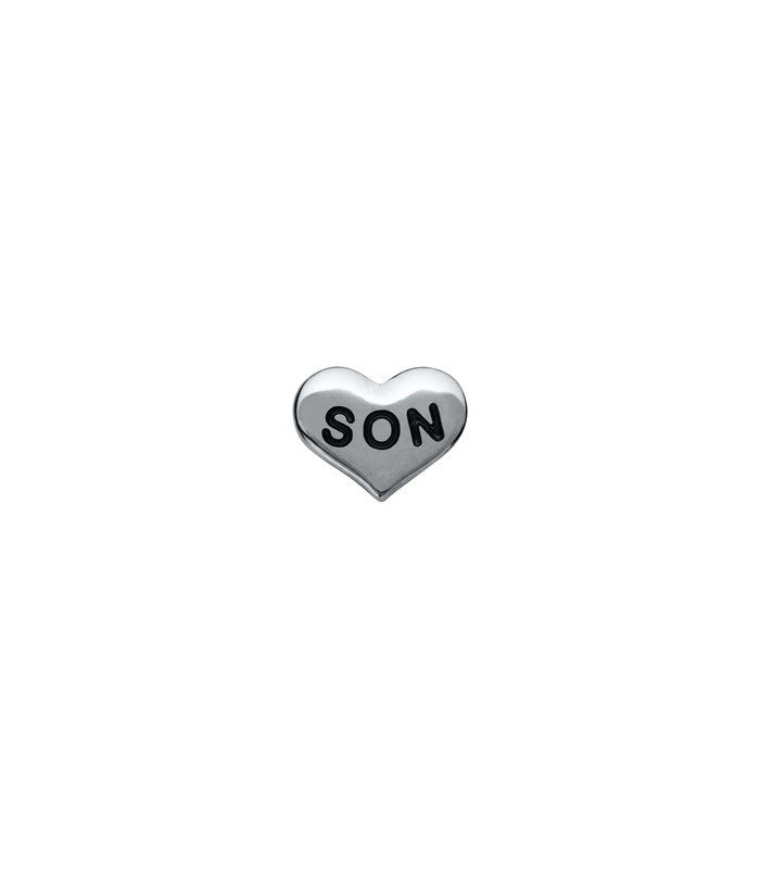Silver son floating locket charm - Stoney Creek Charms