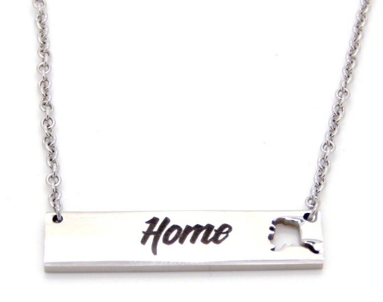 Alaska Home Necklace
