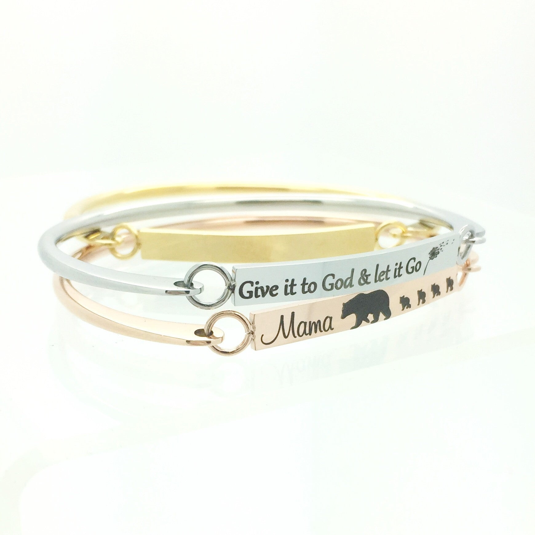 bangles personalized bespoke bangle mom products english bracelet silver snap norman