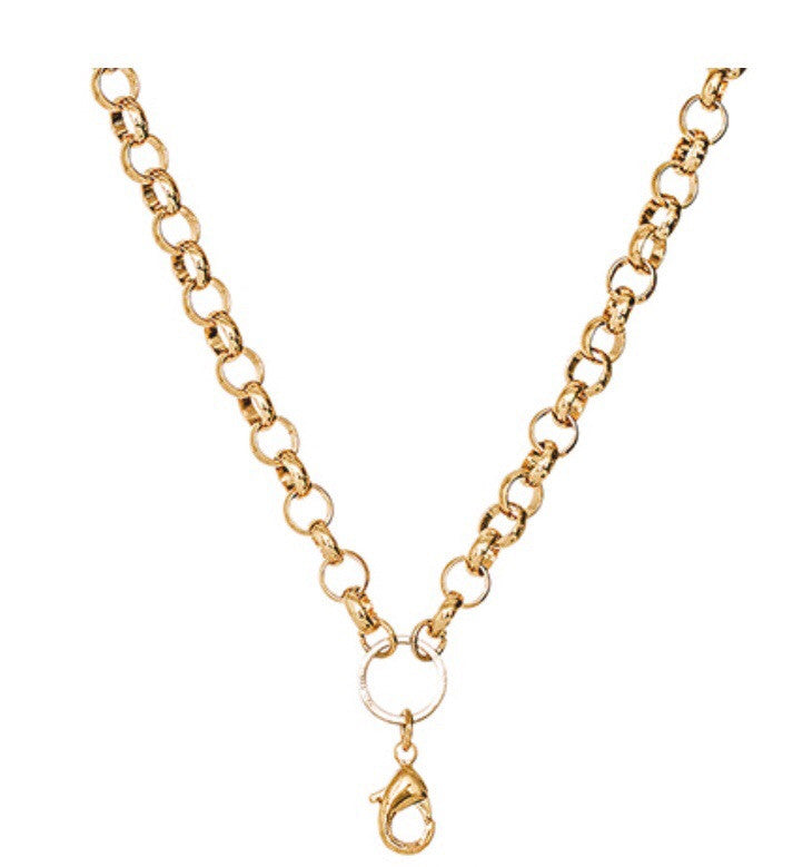 "28"" Gold Rolo Chain"