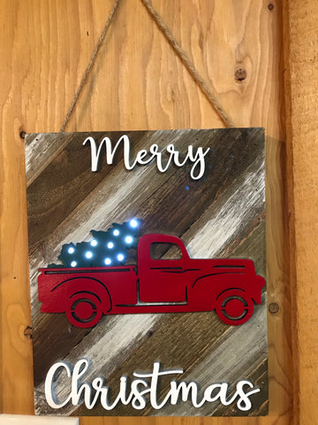 Pallet Wood Christmas Sign