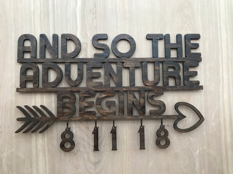 And So The Adventure Begins