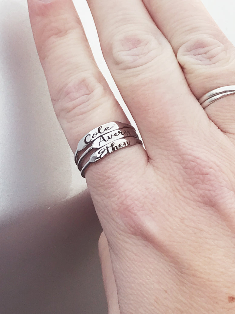 Minimalist skinny bar ring