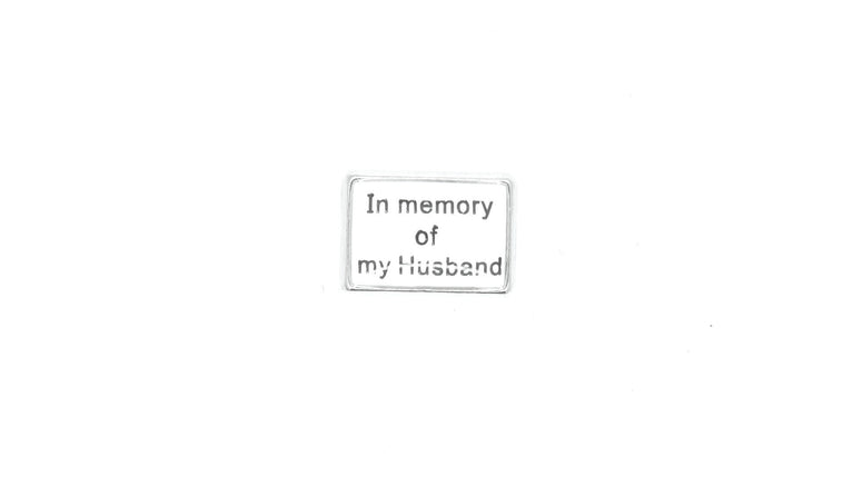 In Memory Of Husband Charm - Stoney Creek Charms