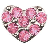 Pink heart floating locket charm - Stoney Creek Charms