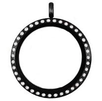 Large 30mm Black Floating Locket