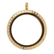 Large 30mm Gold Floating Locket - Stoney Creek Charms