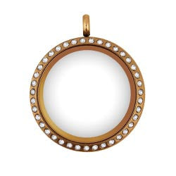 Large Rose Gold 30mm Floating Locket - Stoney Creek Charms