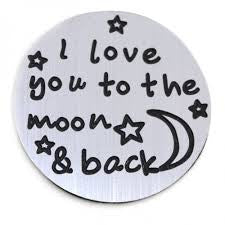 I Love You to Moon and Back Locket Plate