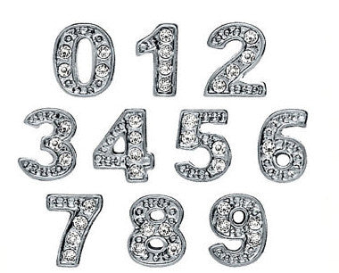 Number Floating charms - Stoney Creek Charms