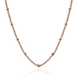 "20"" Rose gold ball station chain - Stoney Creek Charms"