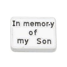 In Memory Of Son Charm - Stoney Creek Charms