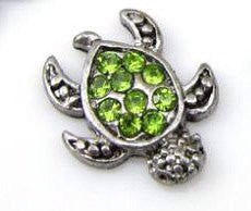 Green turtle floating locket charm - Stoney Creek Charms