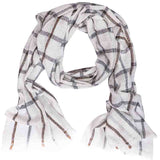 Winter Essential Cashmere Blend Stole - Brown and Grey Checks