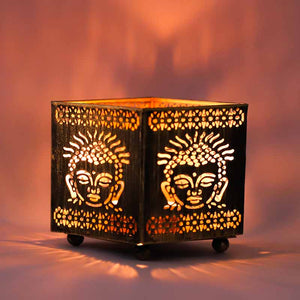 Buddha Table Top Shadow Diya - Set of 2