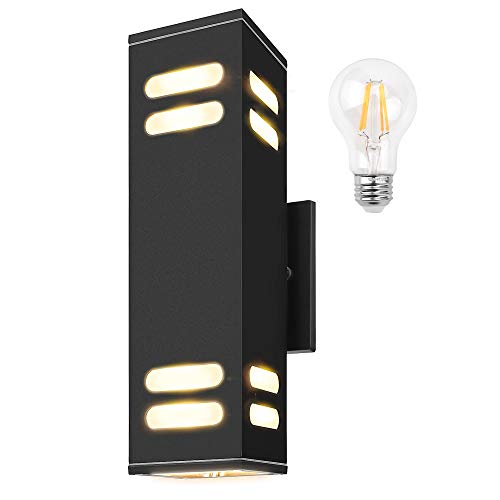JACKYLED ETL Listed Outdoor Wall Light Fixtures Bulbs Included  60W
