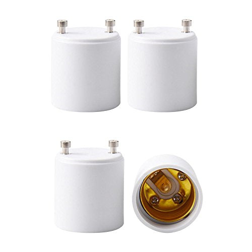 JACKYLED GU24 to E26 E27 Adapter 4-pack