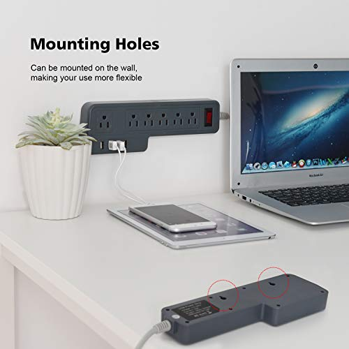 JACKYLED 3.4A 4 USB Ports Electric Mountable Power Strip
