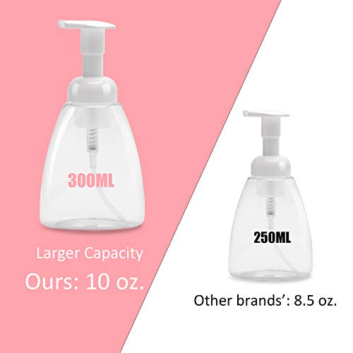 ULG Foaming Soap Dispensers Pump Bottles 300ml (10oz) White