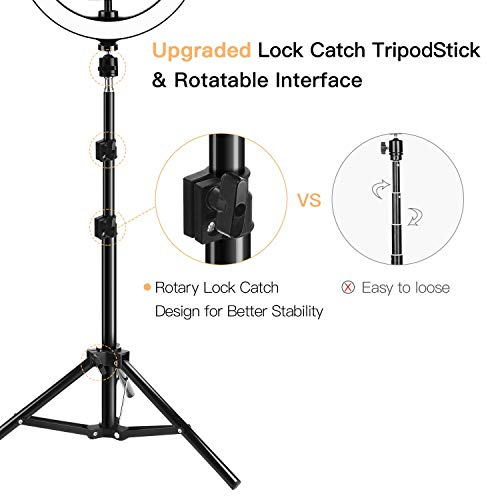 10'' Selfie Ring Light with Tripod Stand & Phone Holder JACKYLED