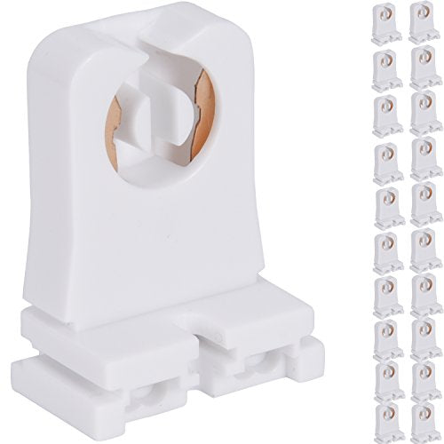 JACKYLED Non-shunted Turn Type T8 Lamp Holder 20-Pack