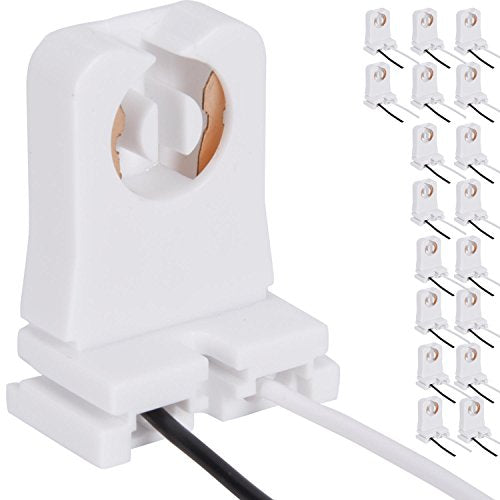 JACKYLED Non-Shunted Turn-Type T8 Lamp Holder 18-Pack