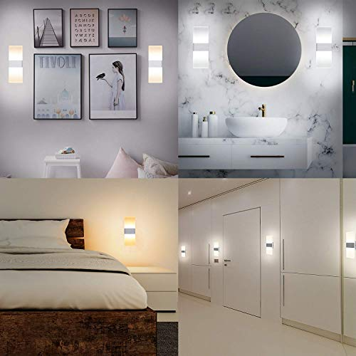 LED Wall Sconce with Remote Control JACKYLED 10W Modern Wall Sconces Set of 2