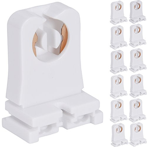 JACKYLED Non-shunted Turn Type T8 Lamp Holder 12-Pack