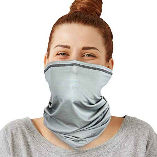 PACEARTH Face Cover Mask Bandana Neck Gaiter Scarf , gray, Adult